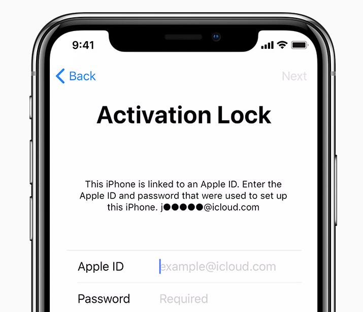 iPhone activation lock