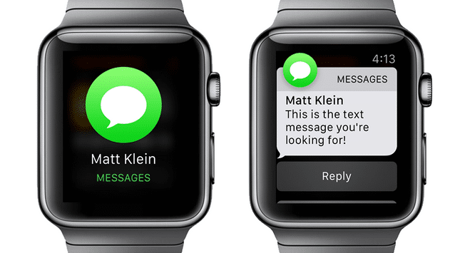 apple watch quick reply