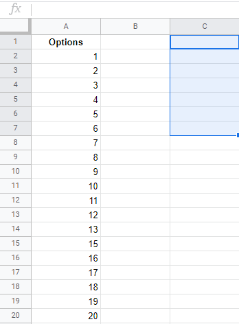 google sheets dropdown list from range