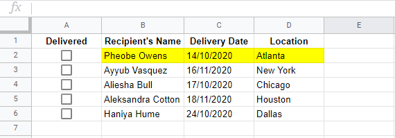 google sheets checkboxes conditional formatting