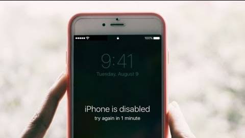 iphone is disabled connect to itunes try again