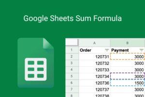 google sheets sum formula
