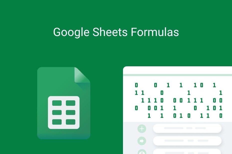 google sheets formulas